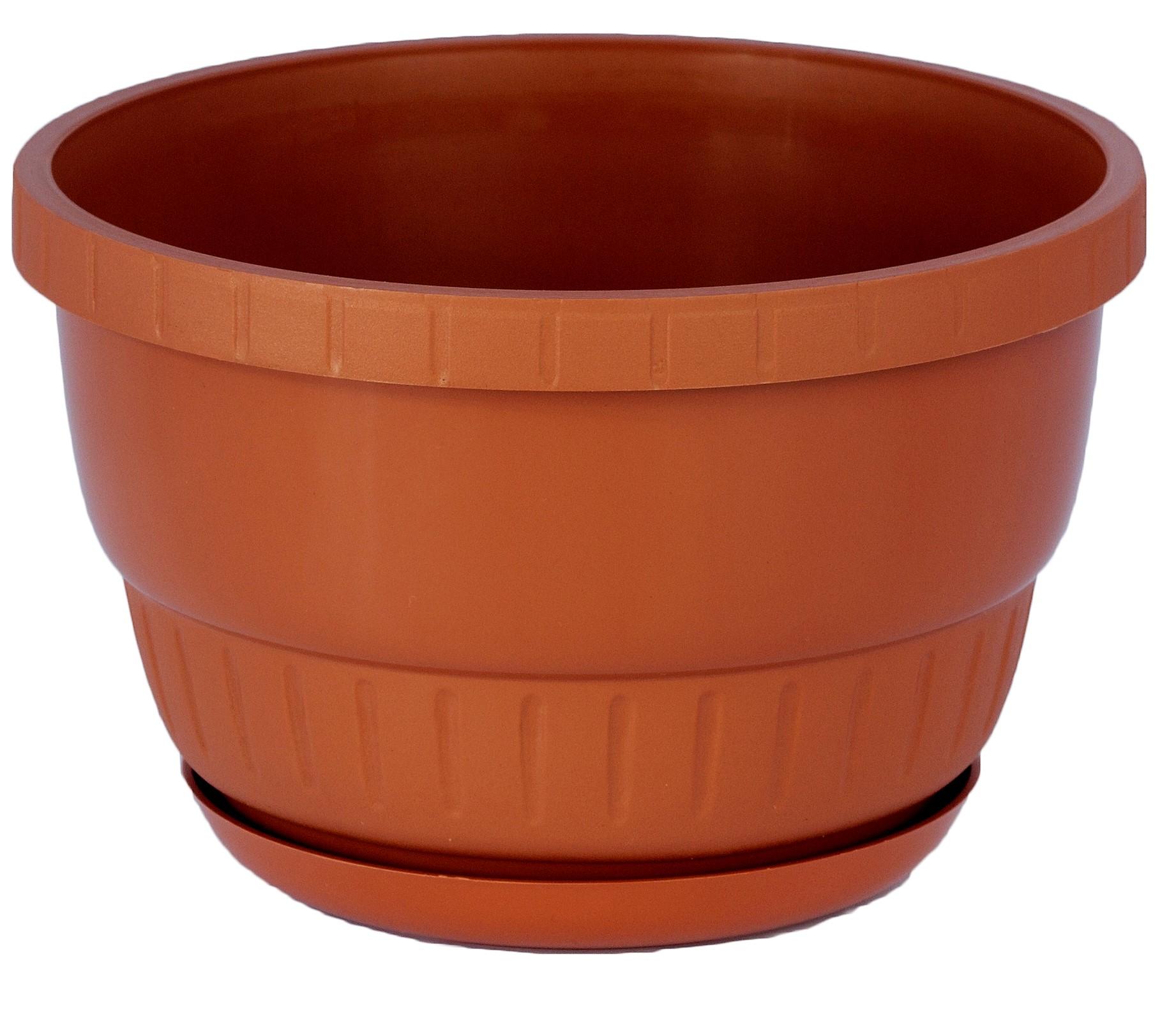 Doniczka Europa Z Podstawką średnica 15 Cm Terracotta Colour 010